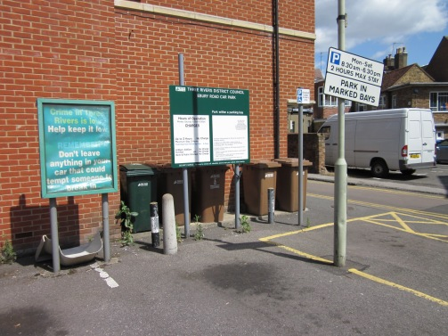 ideal place for recycling in town - there's almost always space