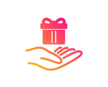 Loyalty program icon. Gift box sign. Vector